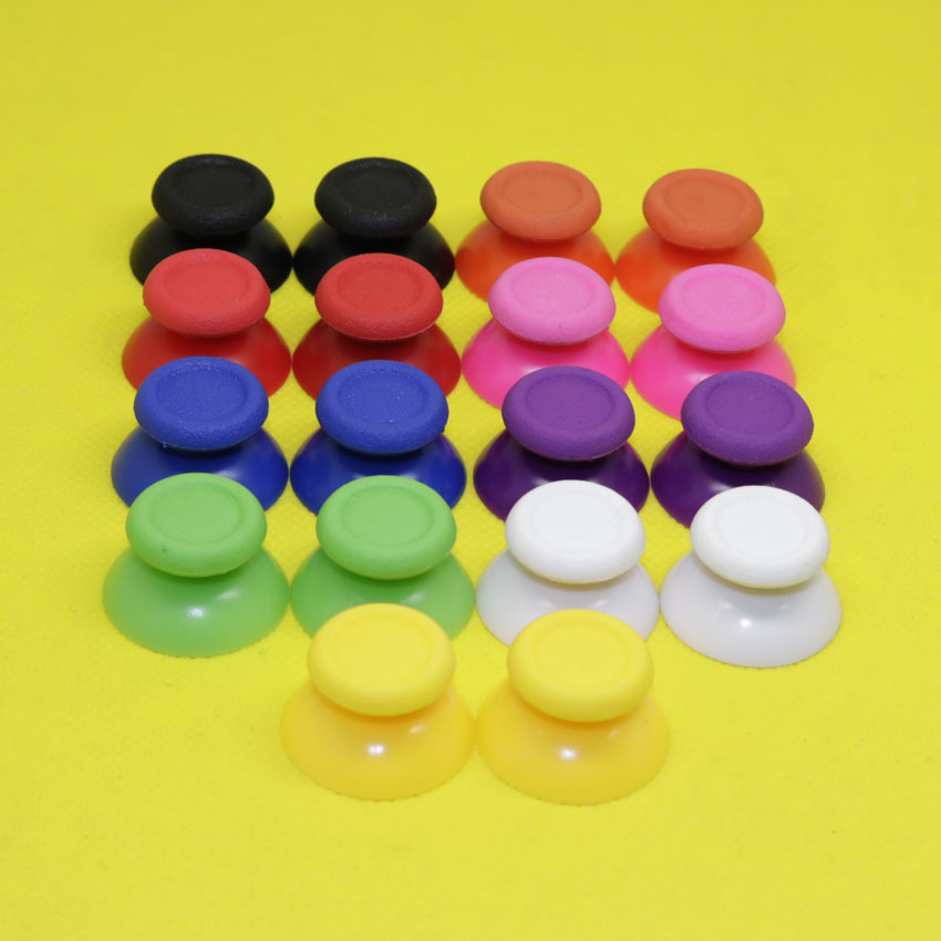 9 Color 2PCS Joystick Cap solid plastic rubber button kit Thumbstick Joystick Cap for PS4 Playstation 4