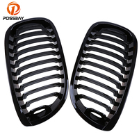POSSBAY Car Racing Grills Gloss Front Kidney Grille for BMW 3 Series E46 Coupe 320Ci/325Ci/330Cd 2003 2004 2005 2006 Facelift