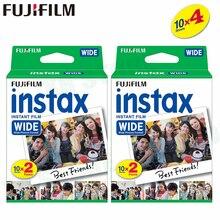 40 Films Fujifilm Instax Largo Bordo Bianco Istante Per Fotocamera Fuji 100 200 210 300 500AF Lomography foto