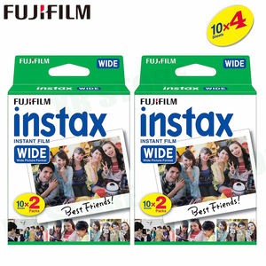 Image 1 - 40 Films Fujifilm Instax Wide Instant White Edge For Fuji Camera 100 200 210 300 500AF Lomography photo
