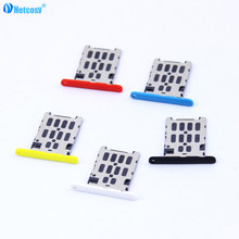 Netcosy New Black White Blue Repair Parts New SIM Card Slot Tray Holder For Nokia Lumia 720 N720 Replacement Whole Sale Retail