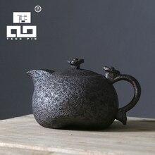 2017新しい到着錆-施釉セラミックティーポットケトルティーポット中国カンフー茶セット箸置き Tangpin