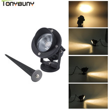 TONYBUNY 2018 HOT SALE COB Outdoor IP65 Spot Spike 5W LED Lawn Garden Light outdoor lawn lamps