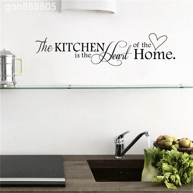 Die Küche Ist Zuhause Herzen Muster Zitate Wandaufkleber Pvc