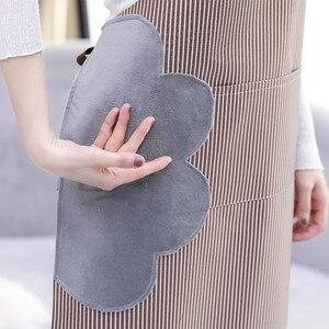 Image 5 - Avental de mão à prova dwaterproof água e à prova de óleo listrado avental fêmea chef ajustável cozimento acessórios restaurante comercial