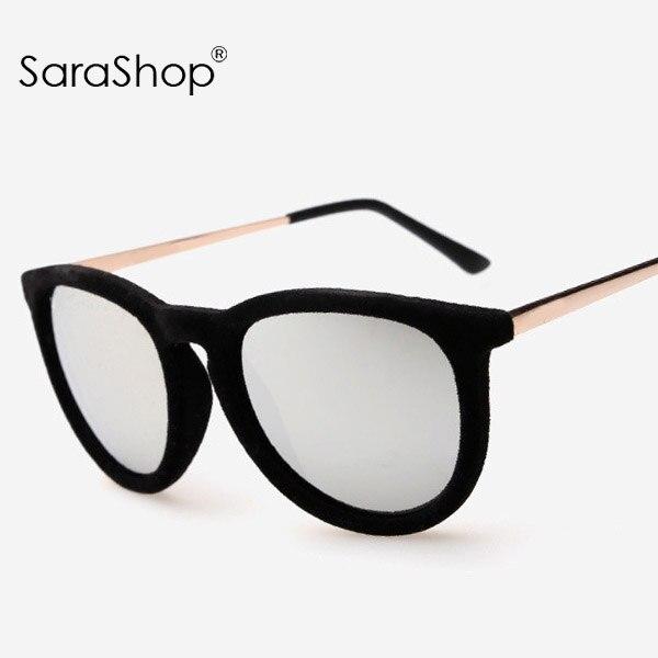 ray ban velvet round keyhole sunglasses  New font b Velvet b font Sunglasses Vintage Women Brand Designer Sun Glasses Round Oculos de