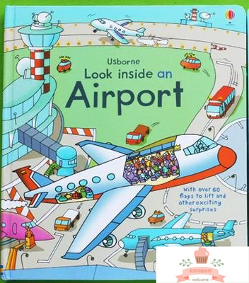 English children's 3D Picture Airport books series organs looking through the Look kid original baby educational airport english books children s 3d picture series looking through look inside kid original baby school educational supplies