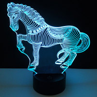 10pcs/lot USB Touch Lamp Bases For 3D LED Night Light Replacement Douille 7 Color Light Base Table Decor Holder Porta Lampada