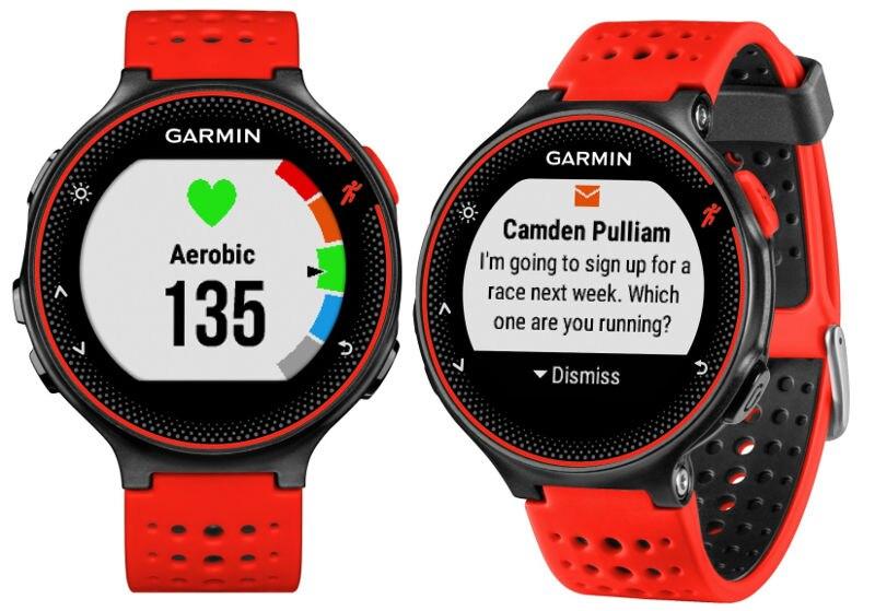 New Garmin Forerunner 235 GPS Running Watch Wrist HRM Red / Black garmin forerunner 25 черно синие hrm