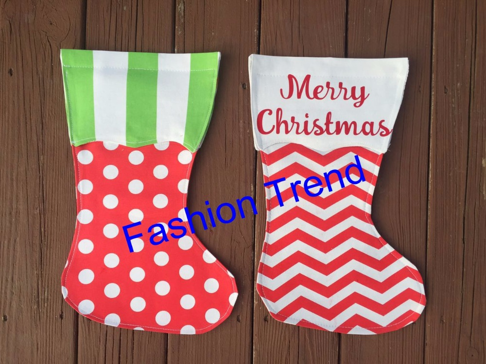 50pcslot monogram wholesale good quality christmas stocking garden flag canvas with eva 2 styles christmas outdoor decoration in stockings gift holders - Christmas Stockings Wholesale