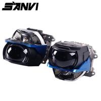 Sanvi 2 pcs L63 L65 Bi LED Lens Headlight 45W 6000K Hi Low Beam Car LED Laser Headlight Car light retrofit Kits