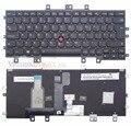 Nuevo para lenovo thinkpad helix 20cg 20ch gen 2 reino unido negro teclado retroiluminado con marco