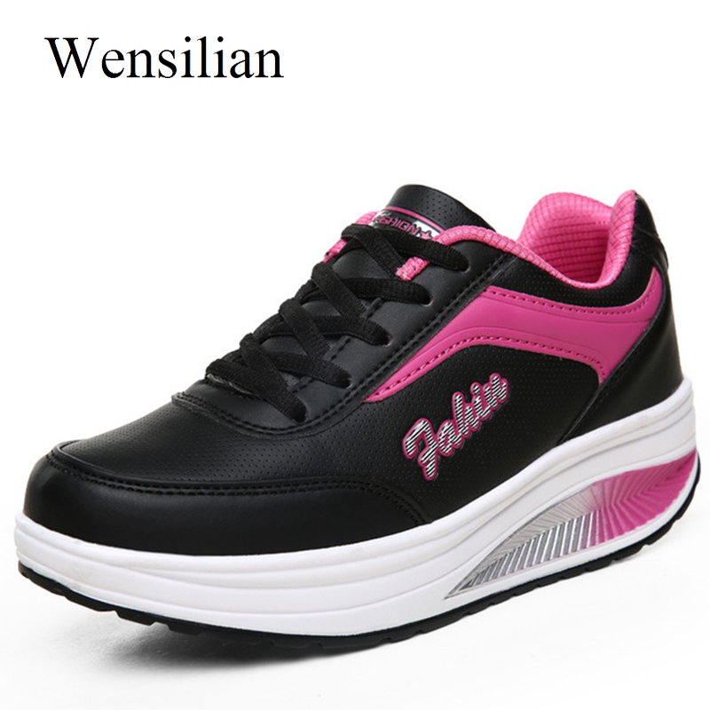 Summer Sneakers Women Platform Shoes Tenis Feminino Lace Up Casual Shoes Ladies Wedge Sneakers Trainers Women Zapatos Mujer цена 2017
