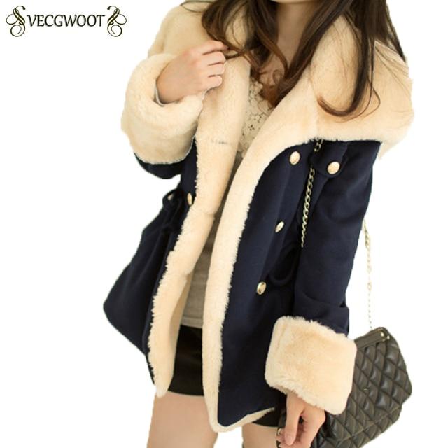 2019 Зимние теплые пальто Для женщин шерстяное платье, тонкое двубортный Шерстяное пальто зимняя куртка Для женщин меховые Для женщин пальто куртки женские QA009