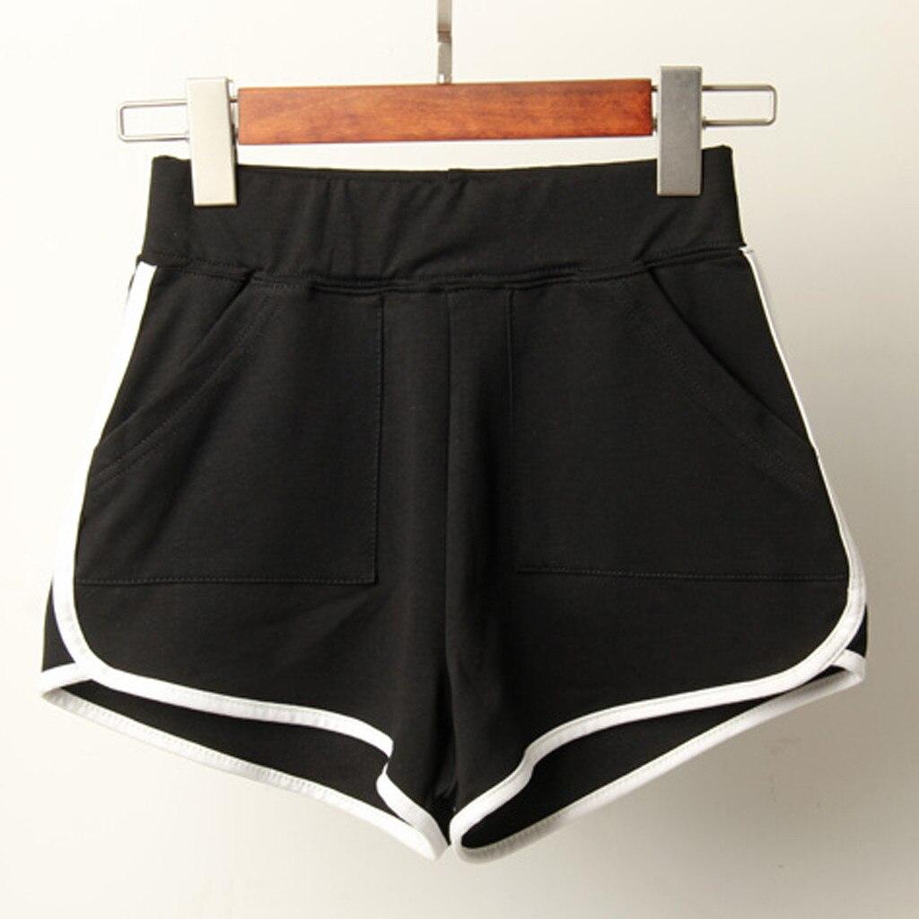 Hot Ladies   Shorts   Women Summer Sport   Shorts   Women Fitness Casual Booty Workout Elastic Waist Black   Short   Pants Spodenki Damskie