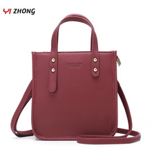 цены KM New Simple Shoulder Bags PU Leather Crossbody Bag for Women Messenger Mini Tote Bolsa Sac Purse Bag Female Luxury Handbag