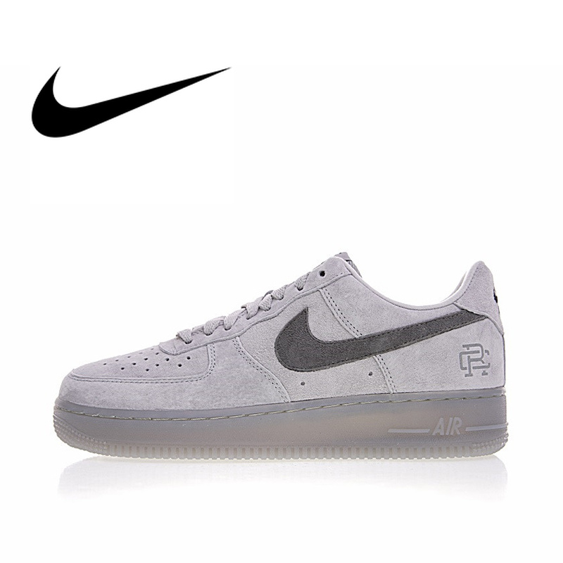 reputable site f5d04 907f7 Original Authentic Nike Air Force 1 Low x Reigning Champ Men s  Skateboarding Shoes Sport Outdoor Sneakers