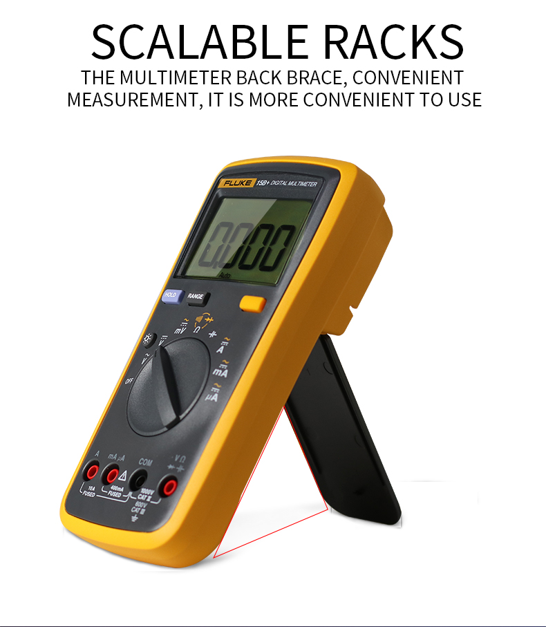 Fluke Digital Multimeter with Auto Range and 4000 Counts for AC DC Voltage and Current 1