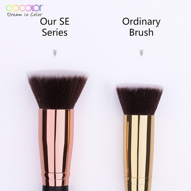 Docolor 1PC Flat Foundation Brush Flat Top Buffing Kabuki Brush Face Makeup Brush Powder Foundation Blush Bronzer Cosmetics Tool 2