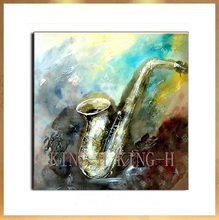 Hand-painted knife painting thick oil the paintings of still life art sound instrument high quality decorative hotel club
