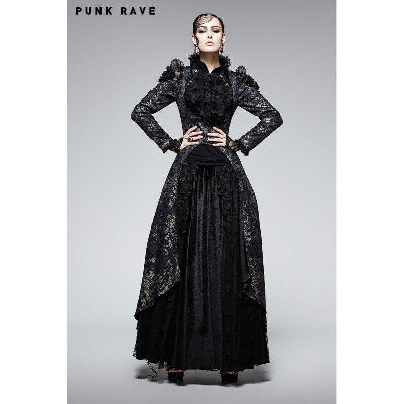 Soirée Femmes Noir Long Magnifique Vintage Femme Victorien Gothique Rave Veste Steampunk Style Punk Formel Manteau Velours SzMVLqGUp