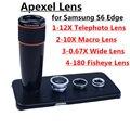 Apexel 4 в 1 Телефон Объектив 12X Зум Телеобъектив + Широкоугольный и макро + Fisheye Рыбий глаз Объектив с Чехол для Samsung S6 edge 12X85