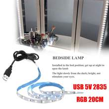 USB 5 V 2835 12SMD 20 Cm RGB LED Strip Light Bar TV Kembali Lampu Kit Drop Pengiriman(China)