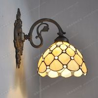 European Classical Zinc Alloy Beads Living Room Bedroom Wall Tiffany Fashion Jewelry Glass Bedside Lamps Bar