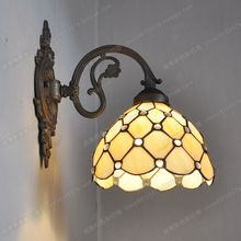 European classical zinc alloy beads living room bedroom wall Tiffany fashion jewelry glass bedside lamps Bar Retro Restaurant
