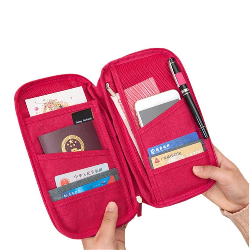 Canvas Passport Cover Wallets Women s Men s Credit Card Holders Bag Travel Boarding Organizer Accessories