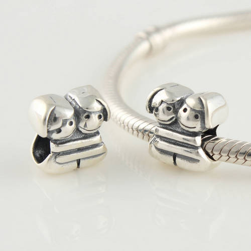 Authentic 925 Silver Beads Fits Pandora Charm Bracelet Diy Good Sisters European Women