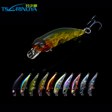 Tsurinoya Wobblers Fishing Accessories Fishing Lure Bait Plastic Reservoir Pond Carp Bait Hard Lure 42mm/2.8g 3D Eyes Crankbait