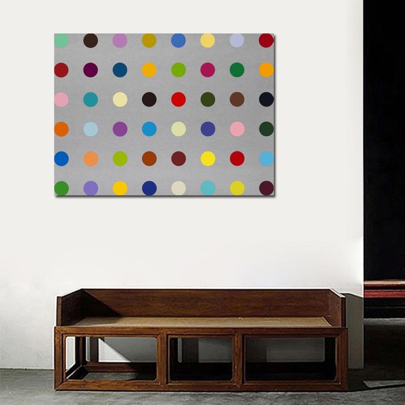 DAMIEN HIRST Canvas Piktura Dot Piktura të shtypura në Canvas - Dekor në shtëpi - Foto 3
