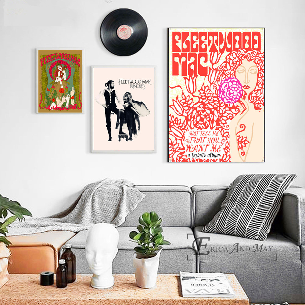 Fleetwood Mac Rumours Music Canvas Painting Posters And Prints For Living Room No Framed Wall Art Picture Home Decor On Sale