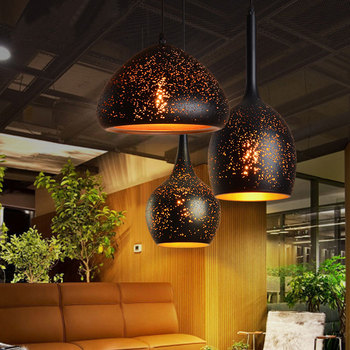 rust pendant light Nordic loft retro Cafe Bar Lamp Iron single head bar restaurant industrial wind ZCL