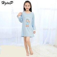 HziriP Baby Girl Home Clothes New Kids Girls Cute Cartoon Long Sleeve Pajamas Children Princess Nightdress Clothing 3Color