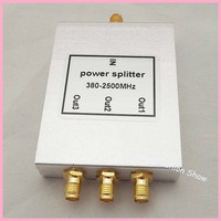 Free shipping Direct Marketing 380~2500MHz 3 way SMA Power Divider/Splitter For GSM&CDMA&DCS Signal Booster Repeater