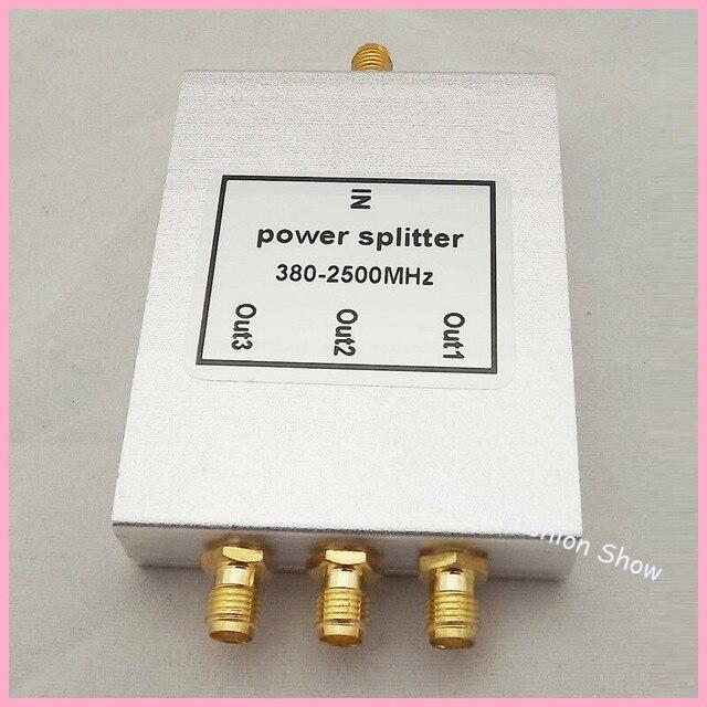 O envio gratuito de Marketing Direto 380 ~ 2500 MHz 3-way SMA Power Divisor/Splitter Para GSM & CDMA & DCS Repetidor de sinal de Reforço
