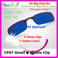 20pcs Al-Mg Alloy Driving Polarized Glasses Eyeglass 7 Colors UV400 Lens Clip On for Small and Middle Size Clips CP07 Free Ship