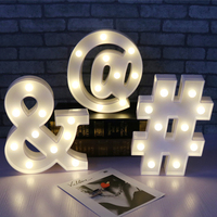 Symbol Punctuation Mark Fairy Night Light ABS Plastic LED Table Desk Lamp Room Atmosphere Wedding Party