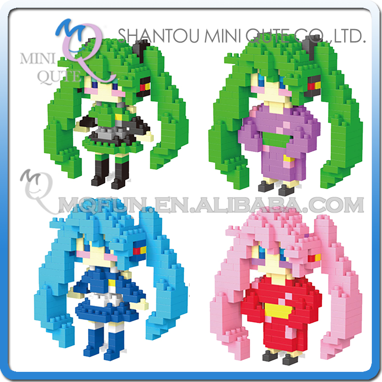 Mini Qute LNO Kawaii girls gift cartoon anime Hatsune Miku plastic movie building blocks brick model figures educational toy