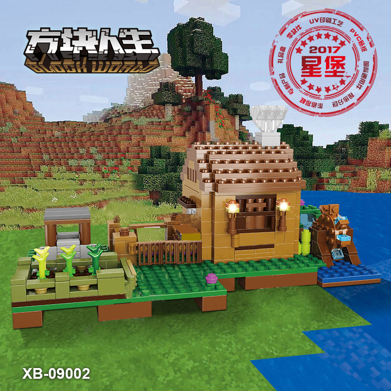 Xingbao 09002 396Pcs Minecraft Series The Blocks Life anime action figures Model Building Blocks Bricks Toys for Children Gifts hot toys 10pcs lot generation 1 2 3 juguetes pvc minecraft toys micro world action figure set minecraft keychain anime figures