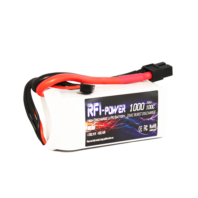 1000mAh 14.8V 100C(Max 200C) 4S Lipo Battery