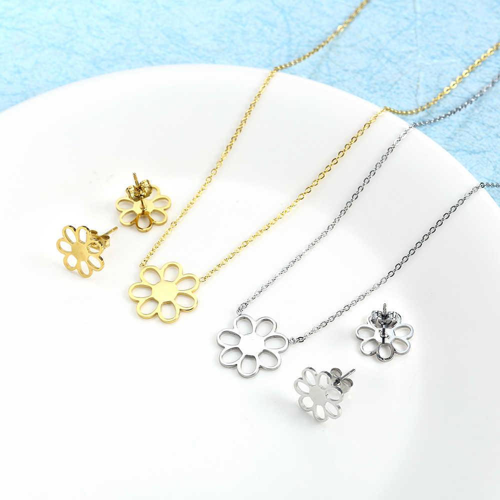 ZUUZ schmuck zubehör sets für frauen silber gold schmuck sets halskette set ohrring für frauen edelstahl braut