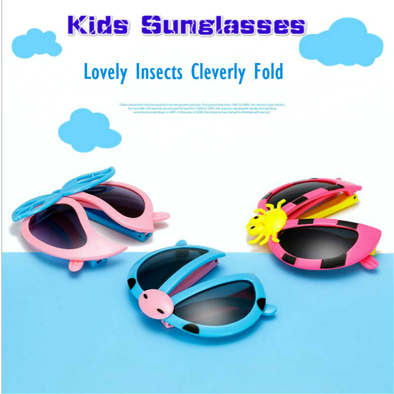 Ladybug Patterns Glasses Fashion Sunglasses Kids Cosplay Action Children Toys Hobby Gift Cartoon Fold Glasses Toys For Children