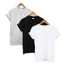 3 Pcs נשים חולצה כותנה קצר שרוול O צוואר מצחיק קיץ חולצות Streetwear חולצת טי נשים מקרית מוצק בגדים בתוספת גודל