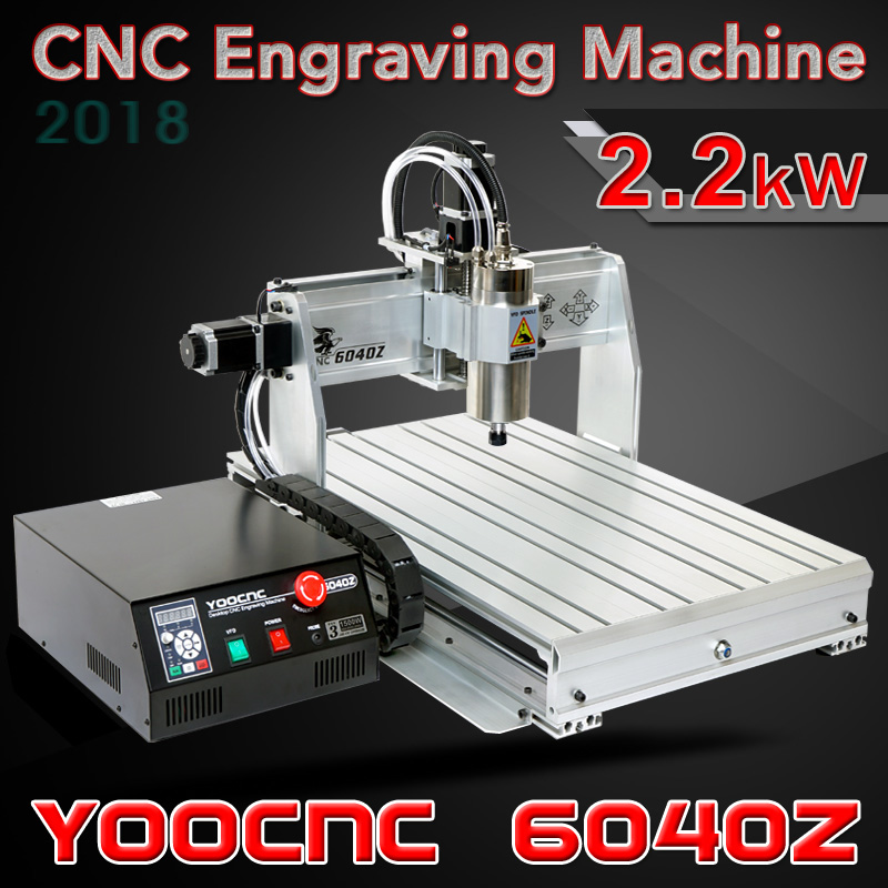 2200W 6040Z CNC Engraving Machine 4axis For PVC ABS PCB Wood Aluminum Work CNC Milling And Drilling Machine cnc engraving machine 2030 parallel port 4axis wood mini lathe for universal work