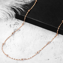 2mm Thin Marina Link Chain 585 Rose Gold Necklace for Women Girls Woman Jewelry Wholesale Valentines Gifts 50cm 60cm CN18(Hong Kong,China)