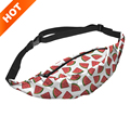 2015 new fashion 3D print watermelon pattern Unisex Waist Belt Bag Travel Pack Belt Pack Waist bags saco da cintura