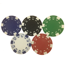 Poker Chips Set 50 pieces / Set 5 Color 11.5 g / Piece Poker Coins Board Games Casino ABS + Iron